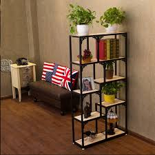 Wang Yong The American Iron Study Wood Living Room Furniture Storage Racks Creative Jewelry Display Shelves