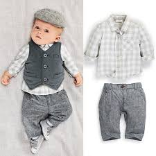 2018 Children Clothes 2014 Fall Autumn Boys Cute Plaid Shirt Vest Pants SuitsDandys From Dandys 5895