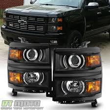 100 Chevy Silverado Truck Parts Black Projector Headlights For 20142015 1500 Pickup