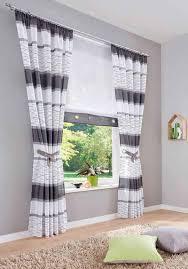 vorhang my home kräuselband 2 stück fertiggardine gardine inkl 2 raffbã nder halbtransparent