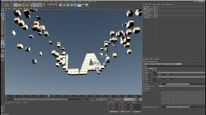 3D Text Animation Using Boole Clonner Random Effect In Cinema 4d