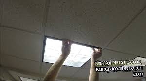 how to replace drop ceiling u shaped fluorescent office lights