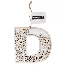 Wooden Filigree Hanging Letter D 13Cm Hobbycraft