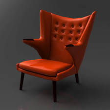 Hans Wegner Papa Bear Chair Leather by Wegner Bear Chair 3d Model Formfonts 3d Models U0026 Textures