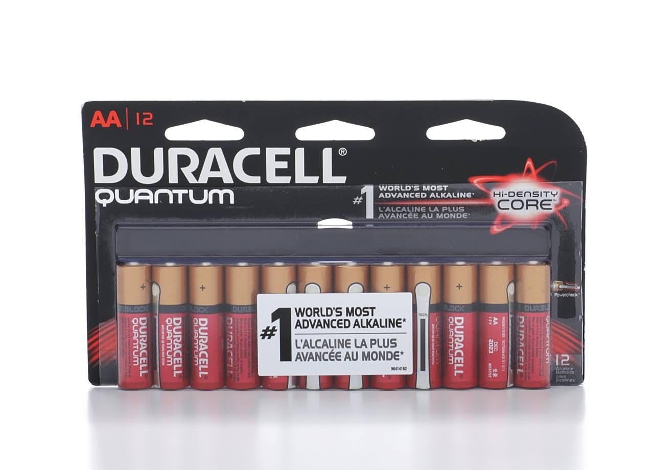 Duracell Powercheck Quantum Alkaline AA Batteries - 12 pack