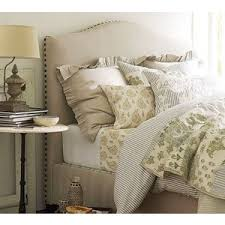 raleigh camelback bed headboard pottery barn polyvore