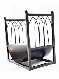 kaminholz ständer halmar luki2 schwarz metallbaumständer eine perfekte dekoration für jedes wohnzimmer mit kamin