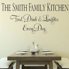 Creative Decoration Kitchen Wall Decor Stickers Personalised Family Eat Drink Laughter Sticker Decals 1