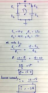The Equivalent Circuit Would Look Like This I Have Shown Some Self Explanatory Calculations To Find Out Current In Loop So As You