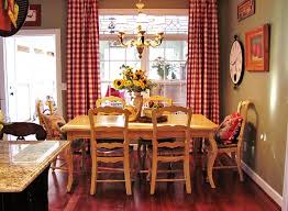 Inspiration Ideas Country Red Kitchen Curtains Red Checked Drapes