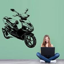 scooter mofa wandtattoo vespa roller motorrad aufkleber