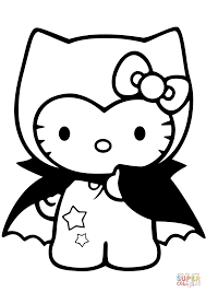 Hello Kitty Dracula Coloring Page With Pages