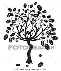 Coffee Tree Vector Illustration