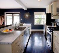 Eclectic Kitchen Decor Contemporary With White Wood Flooring