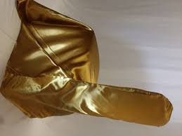 Antique Gold Satin Chair Cover