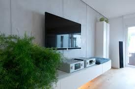 tv wand moderne wohnzimmer innen leben modern