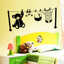 stickers fil a linge sticker chambre d enfant fil à linge enfants mixte destock