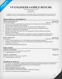 VP Engineer Sample Resume Resumecompanion