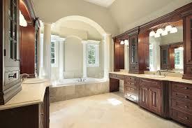 beautiful bathroom uses non slip porcelain tiles with light tan