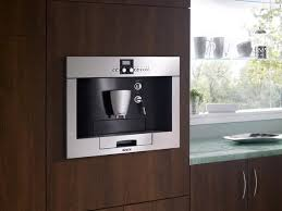 Installed In A Cabinet Wall Built Coffee Makers Grind Brew And Serve