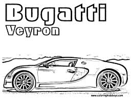 Coloring Print Out Bugatti Veyron Pages Book For Boys