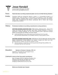 Nursing Assistant Resume Sample Awesome Registered Nurse Resumes Samples With Cna 7 Certified Of