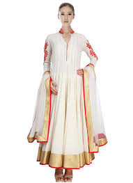 ready to wear anarkali indian dresses online buy off white