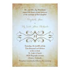 Vintage Gold Paper Monogram Wedding Invitation