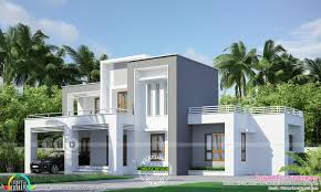 100 Box House Designs Model House Flat Roof Style 2431 Sqft Kerala Home