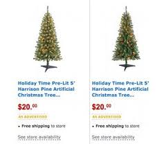 White Christmas Trees Walmart by Walmart Markdown 5 Foot Pre Lit Christmas Tree Only 20