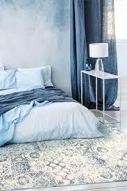 marocco ivory blue skandinavischer leicht zu reinigender teppich fürs schlafzimmer wohnzimmer 160 x 230 cm esa home