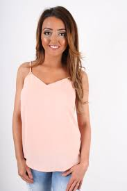 dollywood boutique cami top with gold triangle below straps