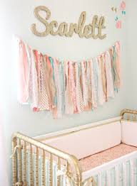 Coral Colored Decorative Items by Coral Mint And Gold Vintage Style Scarlett U0027s Nursery Reveal
