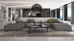 grand canapé d angle design noir intégral bapa large décos