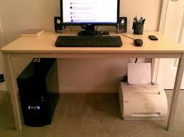 Sauder Edge Water Computer Desk Estate Black by Hide Cords Desk Middle Room Best Home Furniture Decoration