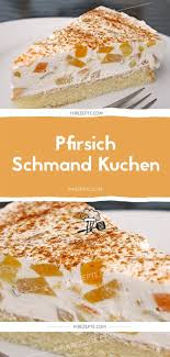 pfirsich schmand kuchen 1k rezepte