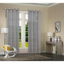20332cn 2er pack vorhang transparent gardinen set wohnzimmer voile vorhang ösenvorhang hxb 245x140 cm mit bleibandabschluß