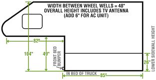 Nissan Frontier Bed Dimensions by Camplite 6 8 Ultra Lightweight Truck Camper Floorplan Livin U0027 Lite
