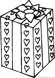 Valentine Gift 2 Coloring Page