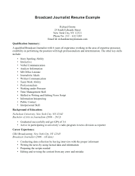 Reporter Resume Sample Journalist Actuary Example For Mass Communication Student