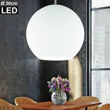design pendel decken le glas kugel esszimmer hänge leuchte eek a im set inkl led leuchtmittel