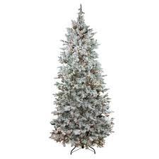 75 Slim Flocked Christmas Tree slender flocked christmas trees you u0027ll love wayfair