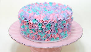 Cakes Decorated With Russian Tips by Watch This Easy Buttercream Piping With Three Colors Youtube