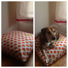 Best Fabric For Sofa With Dogs by Diy Dog Bed Made With Fabric And Old Pillows Make A Giant Pillow