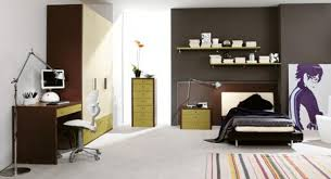 Extraordinary Modern Minimalist Cool Room Designs For Guys Finished With Stripped Rug Pattern Made From Wood