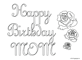Happy Birthday Mom Coloring Page Pages Card For Dad Cards