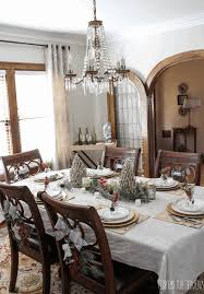 French Country Dining Room Ideas by Christmas Day Table Setting Ideas Dining Hall Decoration 42 Inch