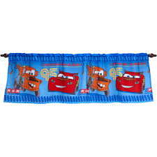 Blue Kitchen Curtains Walmart by Disney Cars Boys Bedroom Curtain Valance Walmart Com