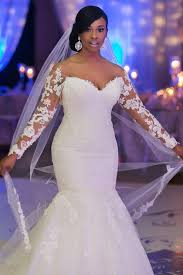 1 4 2017 Long Sleeves Off The Shoulder Wedding Dresses Mermaid Tulle With Applique