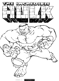 Marvel Coloring Pages Awesome Superhero The Incredible Hulk Page Free For Kids